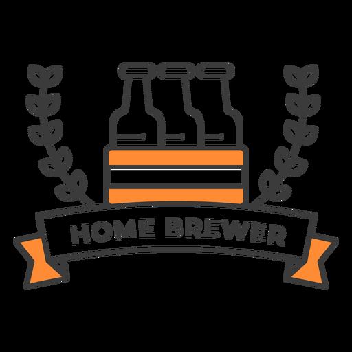 Home brewer bottles badge stroke