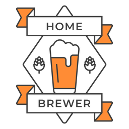 Home brewer pint badge stroke