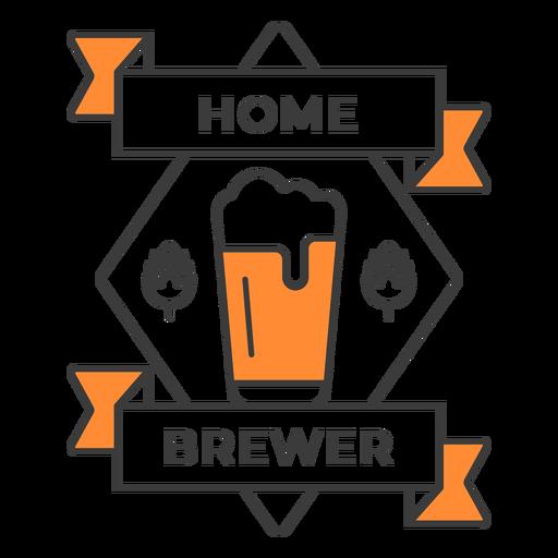 Home brewer pint badge stroke