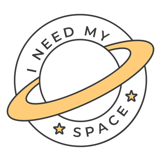 I need my space badge stroke Transparent PNG