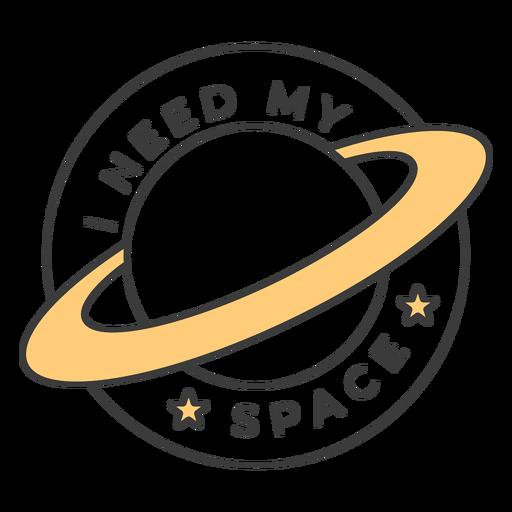 I need my space badge stroke