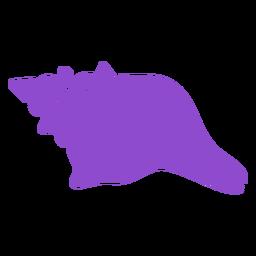Whelk nudoso concha púrpura