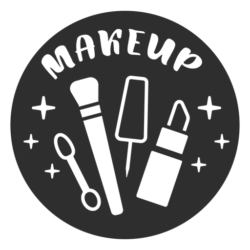 Makeup bathroom label black