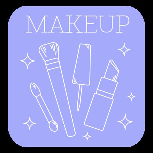 Makeup bathroom label line
