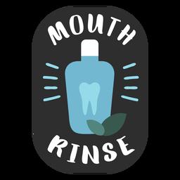 Mouth rinse bathroom label flat