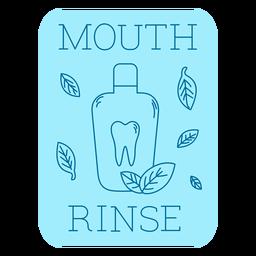 Mouth rinse bathroom label line
