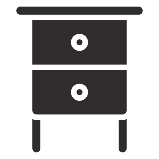 Nightstand with drawers black