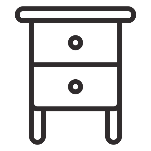 Nightstand with drawers stroke