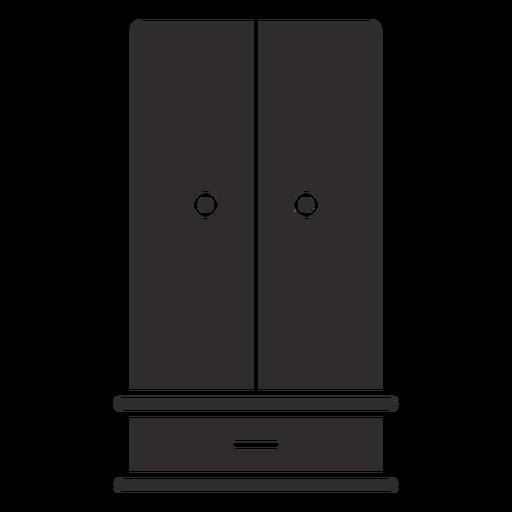 One drawer wardrobe black