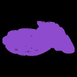 Open oyster purple