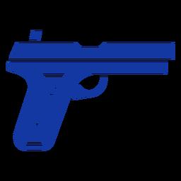 Pistola azul policial