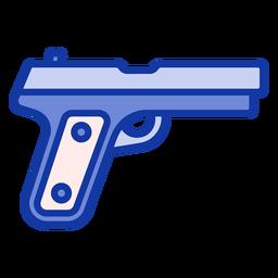 Pistola de policía plana