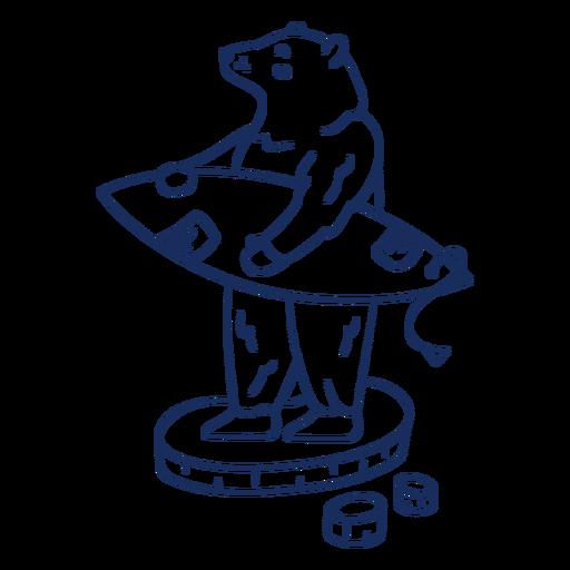 Polar bear surfing stroke