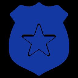 Placa de policía azul