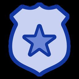Placa de policía plana
