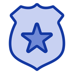 Police badge flat