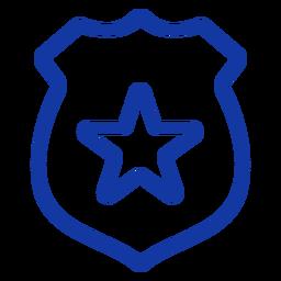 Police badge stroke