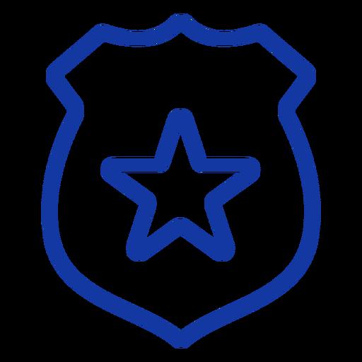 Traço de distintivo policial