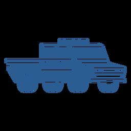 Coche de policía azul