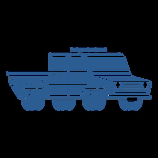 Coche de policía azul Transparent PNG