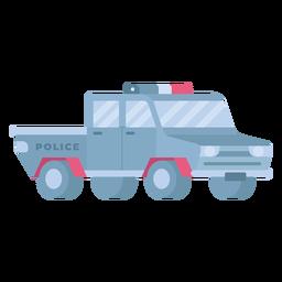Coche de policía plano