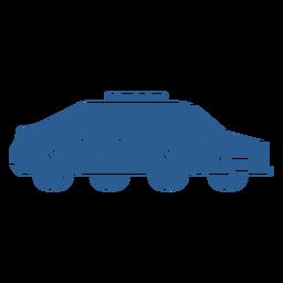 Coche patrulla policial azul