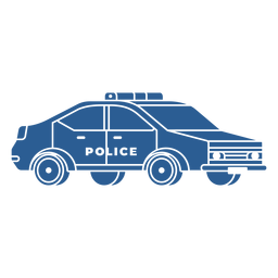 Police patrol car blue