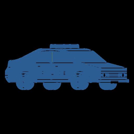 Coche patrulla de la policía azul Transparent PNG