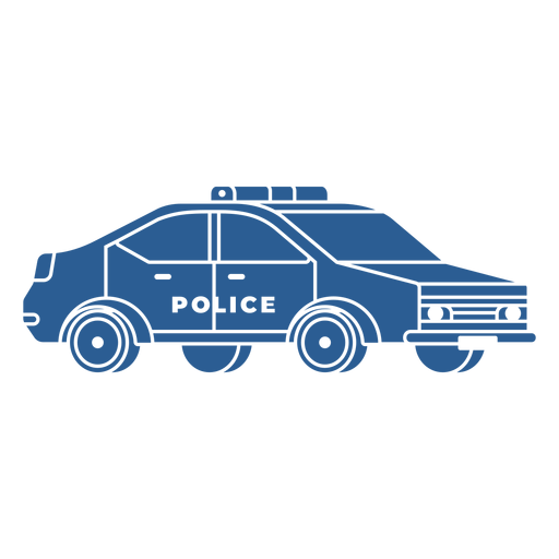 Police patrol car blue Transparent PNG