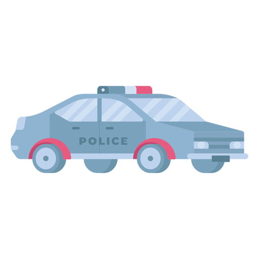 Police patrol car flat Transparent PNG