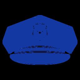 Gorra de visera de policía azul