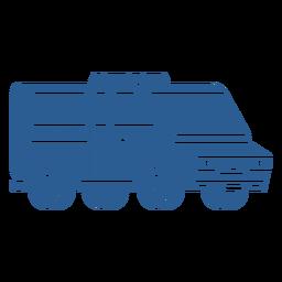 Police van blue