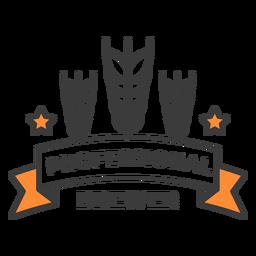 Trazo de insignia de cervecero profesional