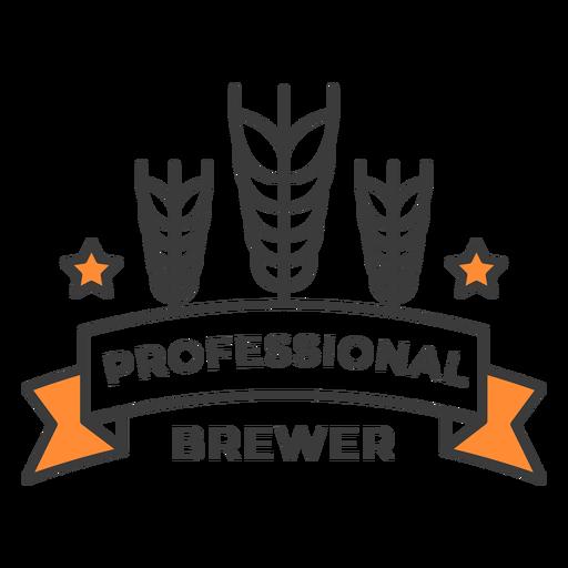 Professional brewer badge stroke