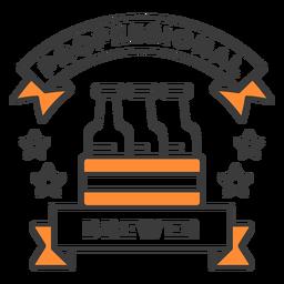 Professional brewer beers badge stroke