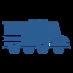 Carro de polícia de controle de motim azul