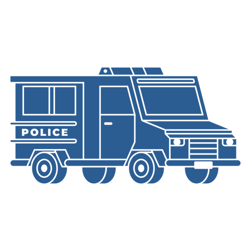 Riot control police car blue Transparent PNG