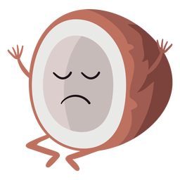 Sad coconut character