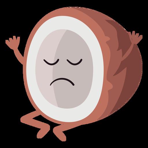 Sad coconut character