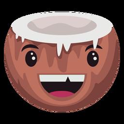 Dumme Kokosnuss Charakter
