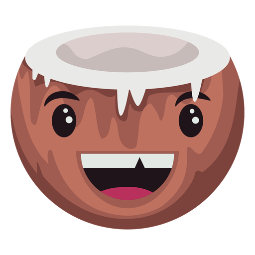 Silly coconut character Transparent PNG