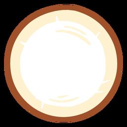Rebanada de diseño de coco