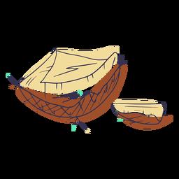 Sliced coconuts doodle