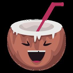 Carácter de coco sonriente