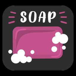 Etiqueta de baño de jabón plana