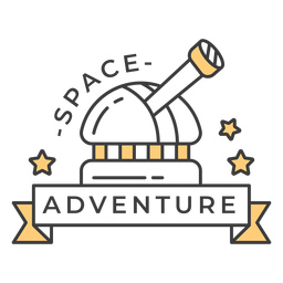 Space adventure badge stroke