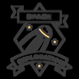Space exploration badge stroke