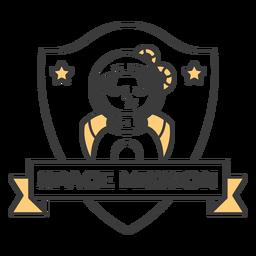 Trazo de insignia de misión espacial