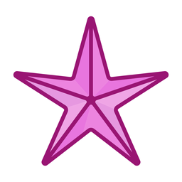 Estrella de mar plana