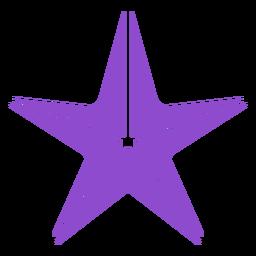 Estrela do mar roxa